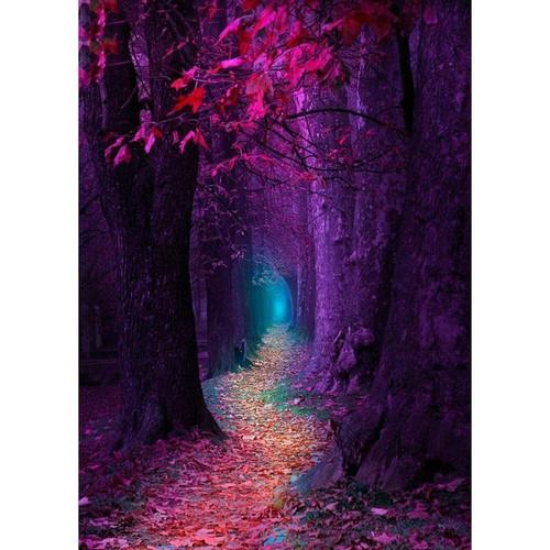 5D Diamond Painting Purple Forest Kit