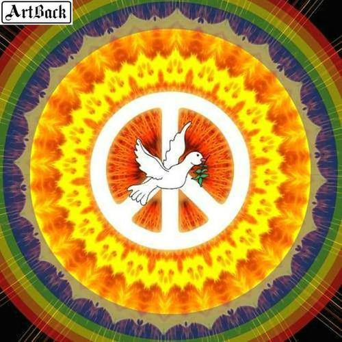 5D Diamond Painting Peace Dove Mandala Kit