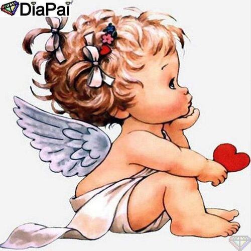 5D Diamond Painting Little Angel Heart Kit