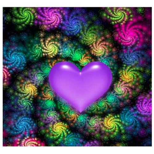5D Diamond Painting Purple Heart Kit