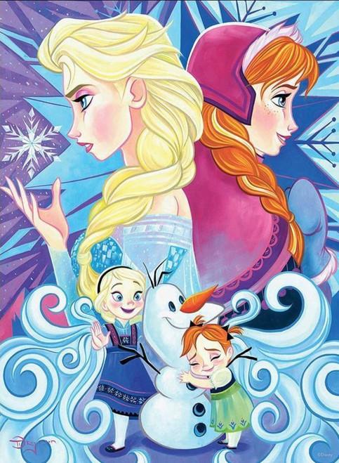 5D Diamond Painting Anna & Elsa Ice Swirls Kit