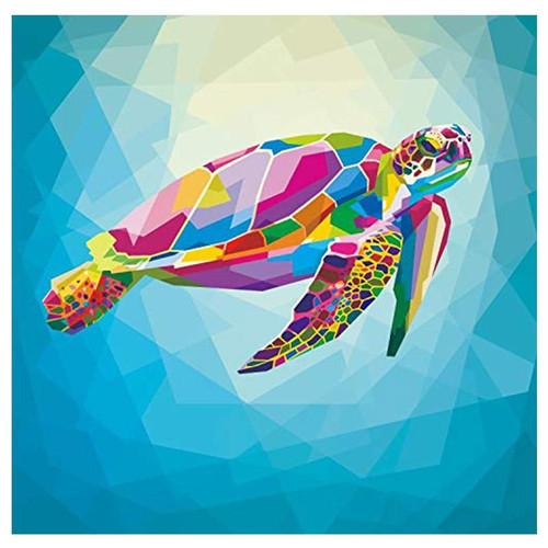 5D Diamond Painting Abstract Colored Turtle Kit