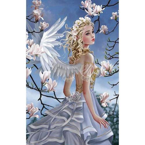 5D Diamond Painting Silver Dress Angel Kit