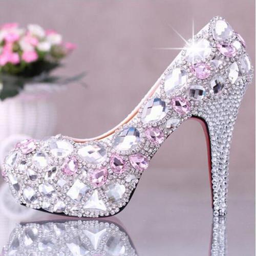 5D Diamond Painting Pink Jewel Stilettos Kit