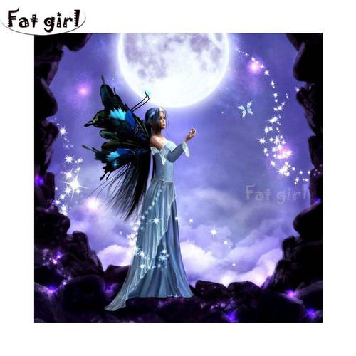 5D Diamond Painting Butterfly Moon Fairy Kit