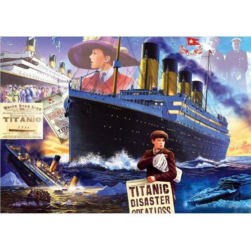 5D Diamond Painting Titanic Collage Kit