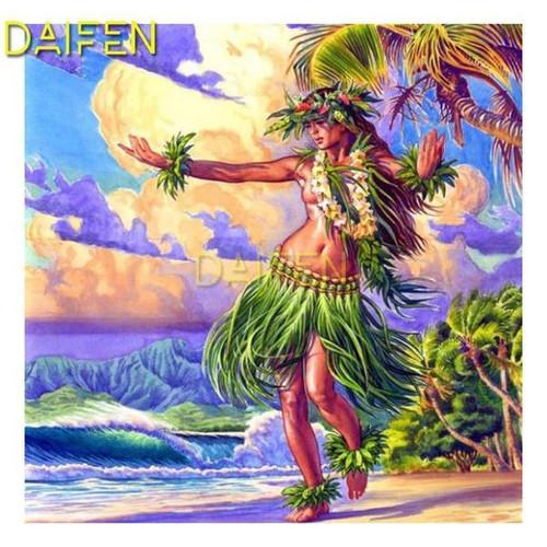 5D Diamond Painting Hawaiian Dancer Kit