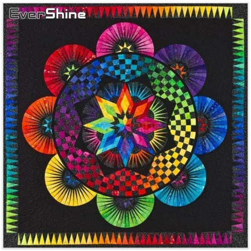 5D Diamond Painting Rainbow Checkered Mandala Kit