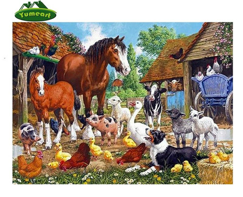 5D Diamond Painting Farm Animals Kit