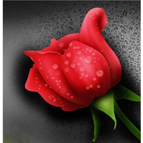 5D Diamond Painting Water Droplet Rose Kit