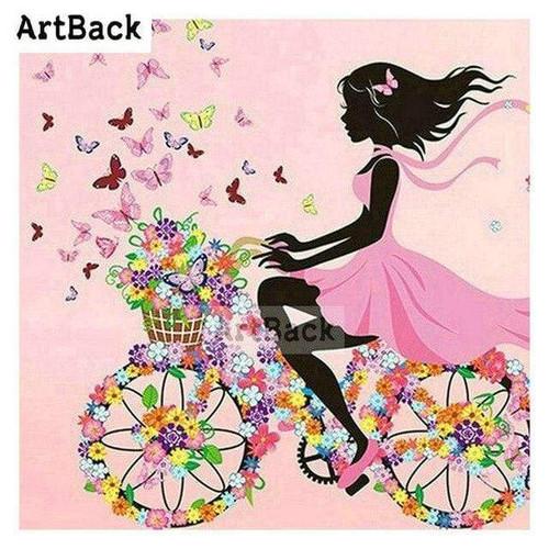5D Diamond Painting Flower Basket Bicycle Kit