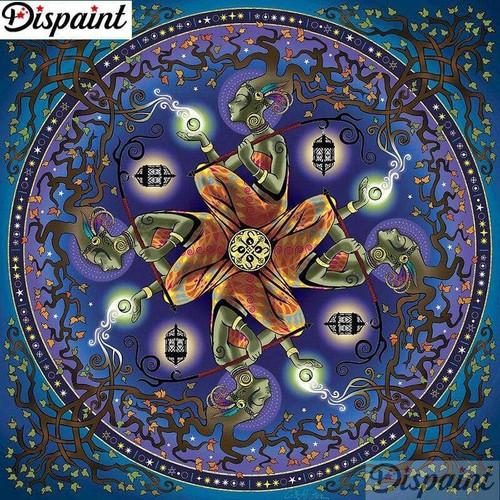 5D Diamond Painting Abstract Tree Hair Woman Mandala Kit