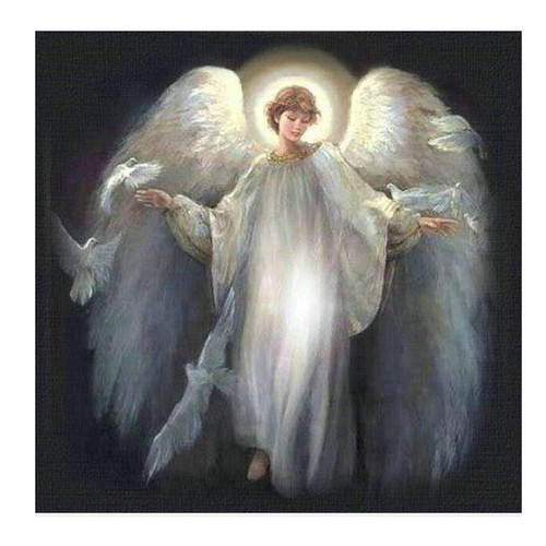 5D Diamond Painting Angel and Doves Kit