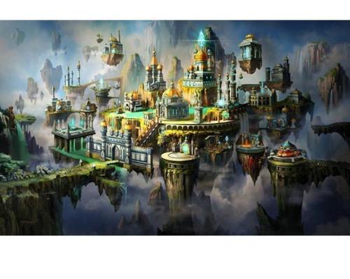 5D Diamond Painting Kingdom in the Sky Kit