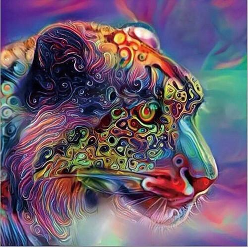 5D Diamond Painting Abstract Jaguar Face Kit