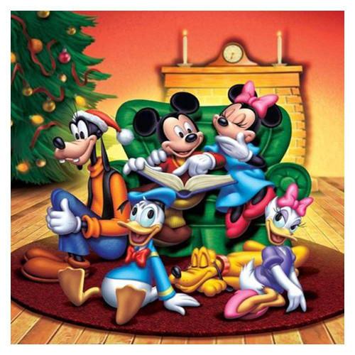 5D Diamond Painting Mickey Christmas Gathering Kit