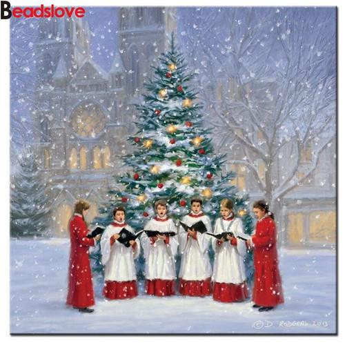 5D Diamond Painting Choir by the Christmas Tree Kit