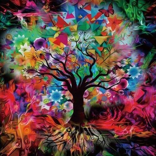5D Diamond Painting Abstract Background Tree Kit