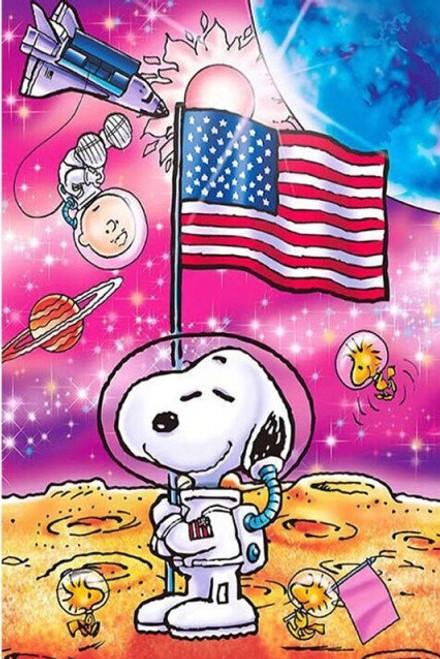 5D Diamond Painting Astronaut Snoopy Kit