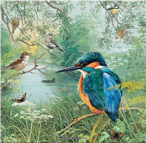 5D Diamond Painting King Fisher by the River Kit