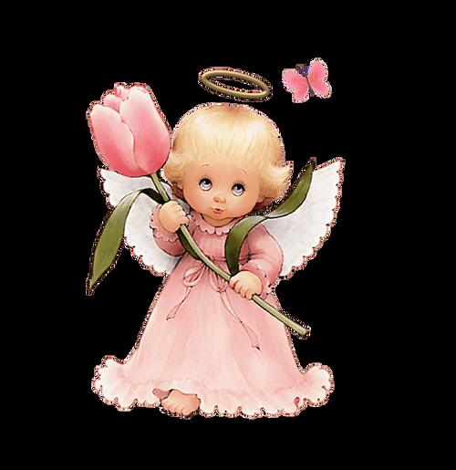 5D Diamond Painting Peach Tulip Angel Kit