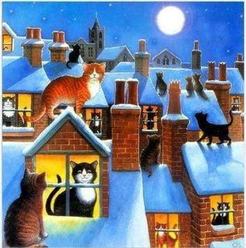 5D Diamond Painting Cats in the City Kit