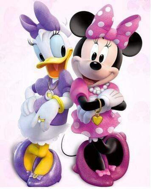 5D Diamond Painting Minnie Mouse and Daisy Duck Jewelry Kit