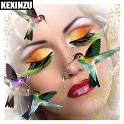 5D Diamond Painting Hummingbird Face Kit