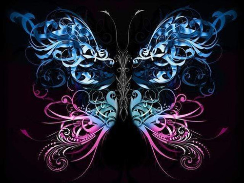5D Diamond Painting Swirly Abstract Butterfly Kit