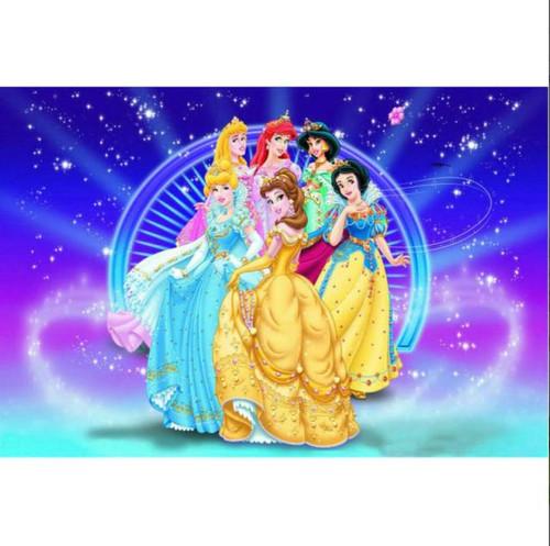 5D Diamond Painting Six Princess Stars Kit