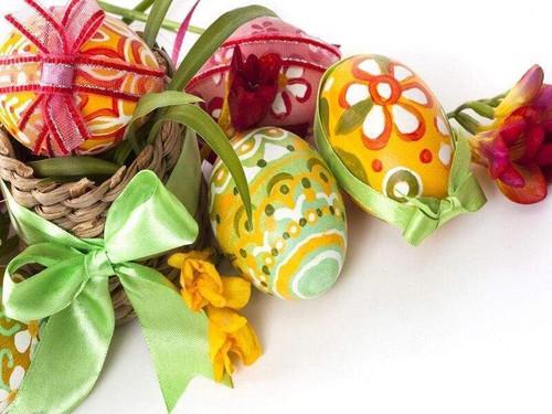 5D Diamond Painting Green & Yellow Easter Eggs Kit