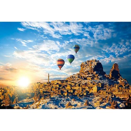 5D Diamond Painting Three Desert Hot Air Balloons Kit