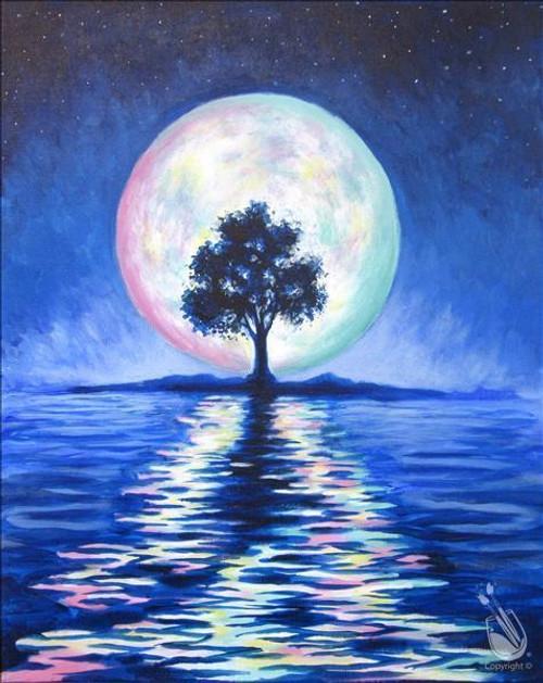 5D Diamond Painting Tree in the Moonlight Kit