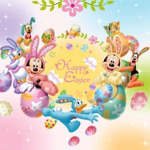 5D Diamond Painting Happy Easter Mickey and Friends Kit