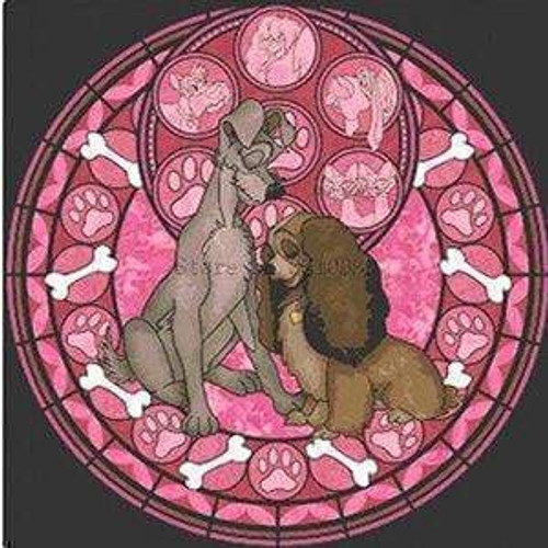 5D Diamond Painting Lady and the Tramp Circle Kit