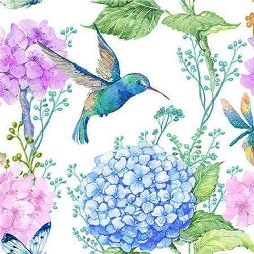 5D Diamond Painting Hummingbird Hydrangea Kit