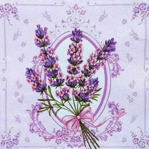 5D Diamond Painting Purple Lavender in a Bow Kit