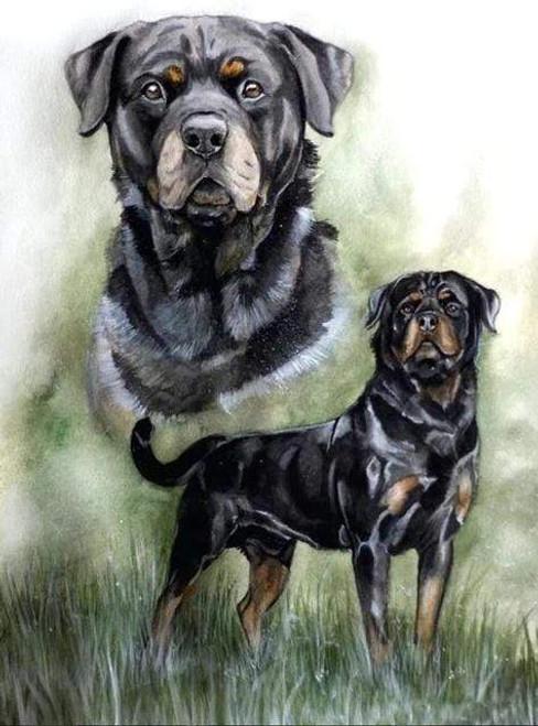 5D Diamond Painting Rottweiler Collage Kit