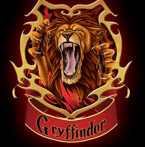 5D Diamond Painting Gryffindor Lion Kit