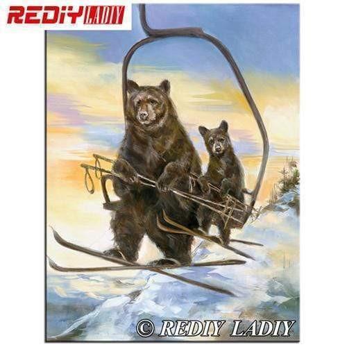 5D Diamond Painting Ski Bears Kit