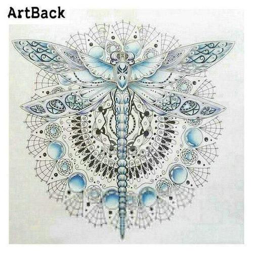 5D Diamond Painting Light Blue Dragonfly Kit