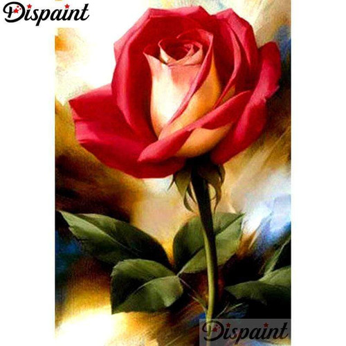 5D Diamond Painting Red and Yellow Rose Kit