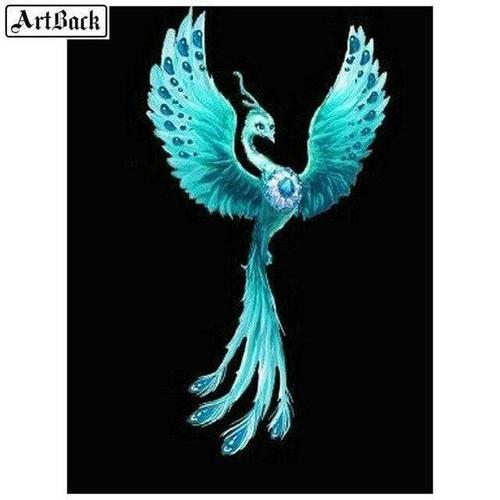 5D Diamond Painting Aqua Jewel Peacock Kit