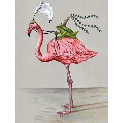 5D Diamond Painting Flamingo and Frog Kit