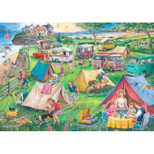 5D Diamond Painting Seaside Camping Grounds Kit