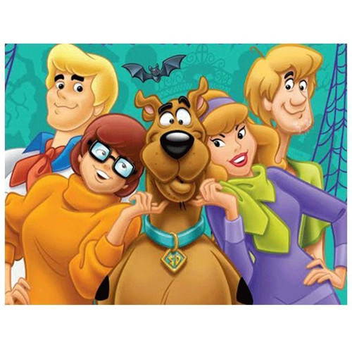 5D Diamond Painting Scooby Doo and the Mystery Machine Gang Kit