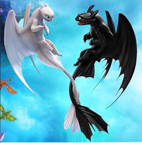 5D Diamond Painting Light and Night Fury Dragons Kit