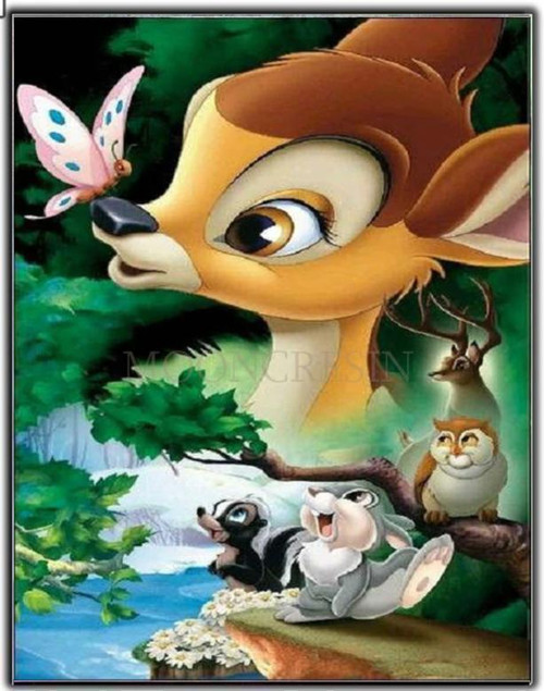 5D Diamond Painting Bambi Butterfly Collage Kit