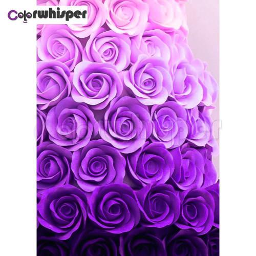 5D Diamond Painting Shades of Purple Roses Kit