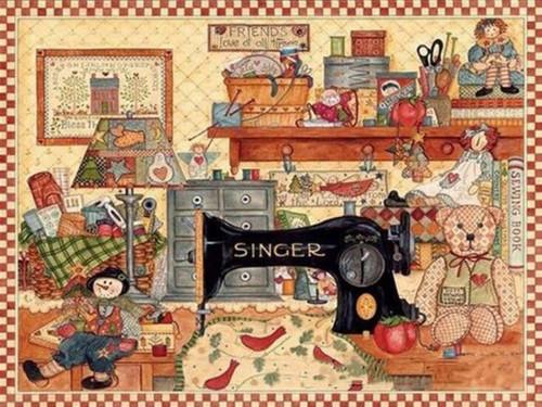 5D Diamond Painting Singer Sewing Machine Kit